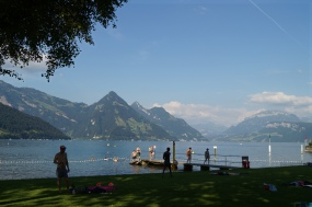 Buochs, lago de los cuatro cantones (Suiza)