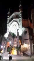 La fachada de la iglesia de Sólller