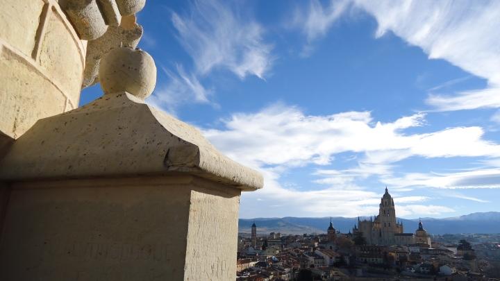 La Catedral de Segovia desde el Alcazar